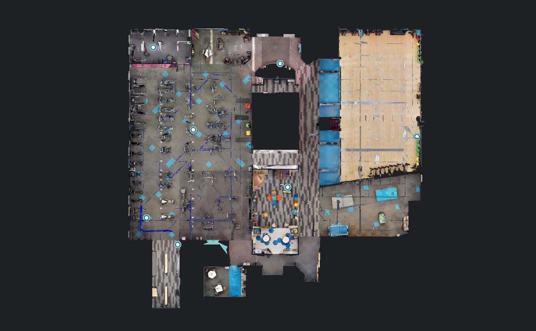 2D план из 3d Тура для фитнесклуба
