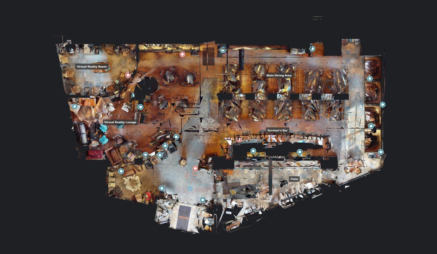 2D план из 3d Тура для ресторана